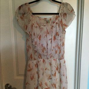 Mimi Chica Feather Print Dress